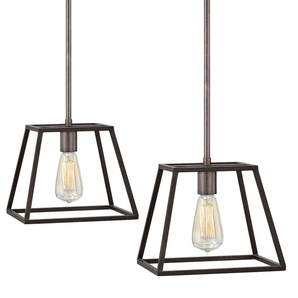 Fultons minimalist beauty emphasizes less is more with vintage industrial style this clean airy tapered cage design is constructed without glass and