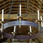 polycandelon chandelier in a church