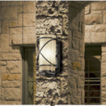outdoor flush mount wall sconce