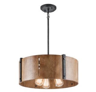 Kichler's The Elbur Three-Light Pendant