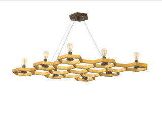 fredrick ramond eight light hexagon chandelier