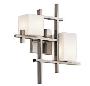 kichler city lights collection two light wall sconce