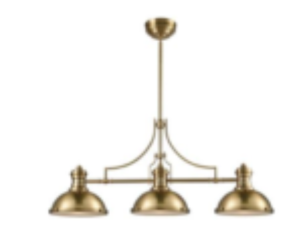Three Elegant Gold-Toned Lighting Fixtures for Your Kitchen